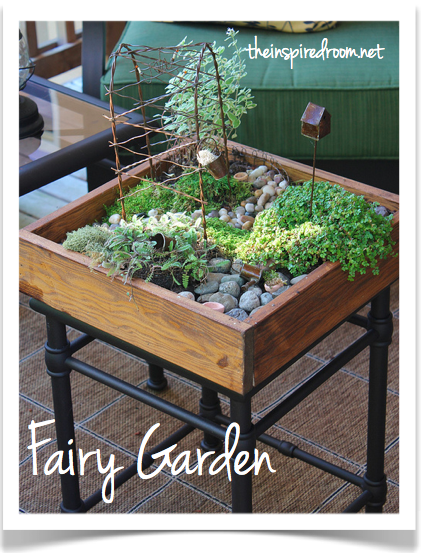 Miniature Table Top Garden With Stepables Mini Garten Diy Feengarten Und Gartendesign Ideen
