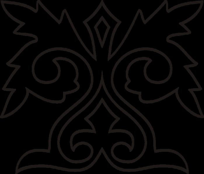 Раскраска казахских орнаментов 198