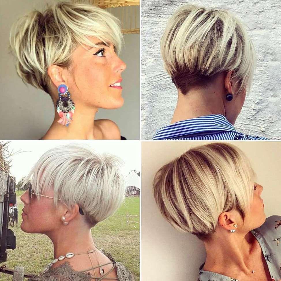 Short hairstyles for u frisyrer pinterest short