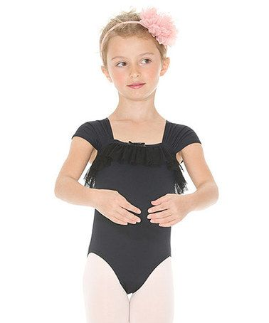 42e903b8b Love this Black Ruffle Cap-Sleeve Leotard - Toddler   Girls by ...