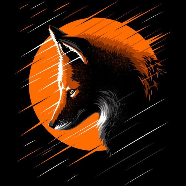 Rising Fox Men's Perfect Tee By albertocubatas - Design By Humans | Fox  art, Fox artwork, Fox illustration