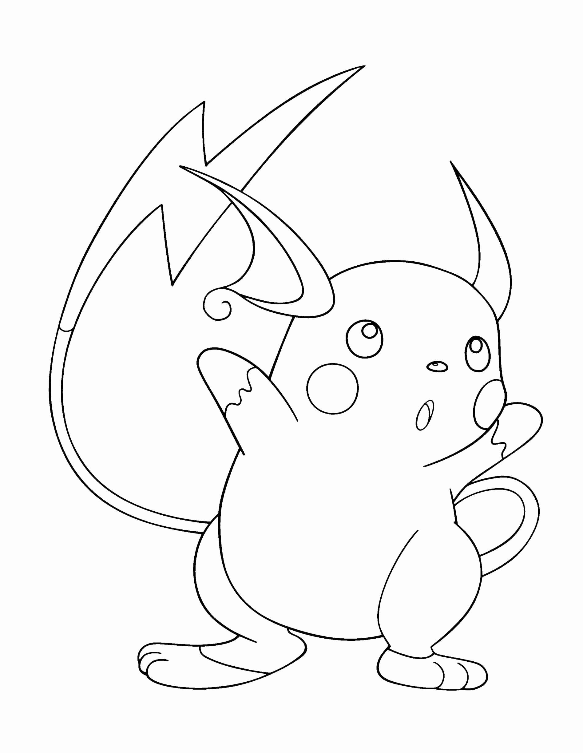 Coloring Pages For Kids Pokemon Raichu In 2020 Pokemon Coloring Pages Coloring Pages Cute Coloring Pages