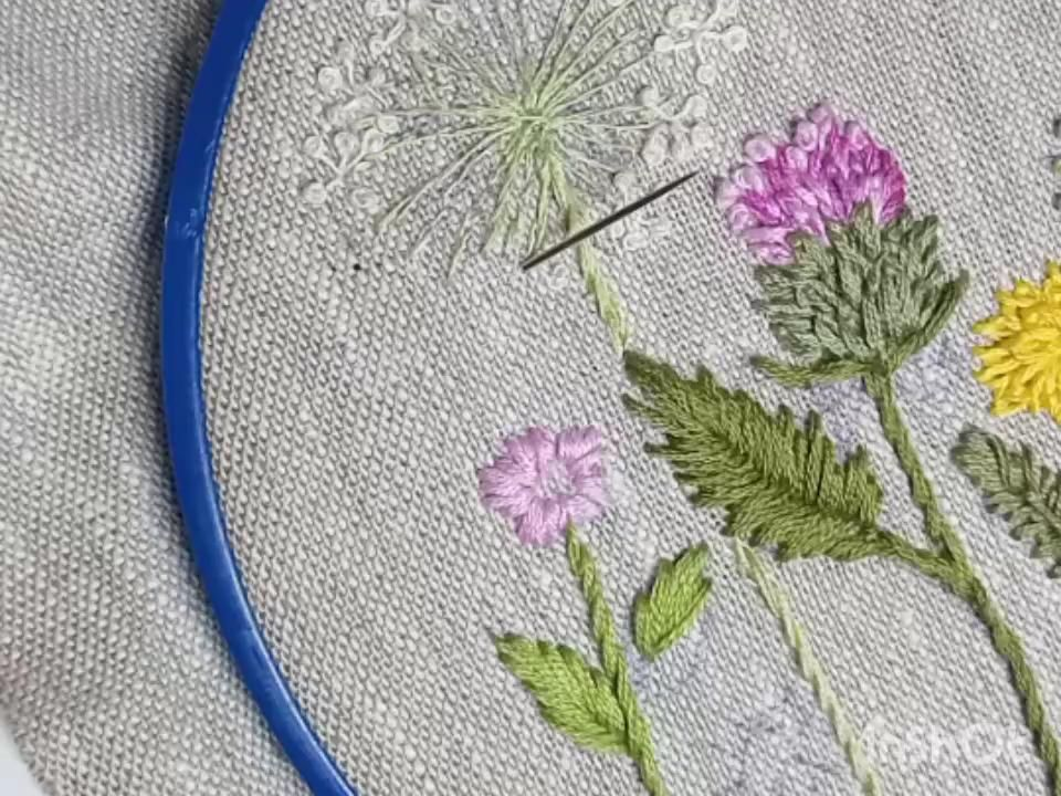 Videotutorial broderie noeud français sur la jambe   – My  embroidery PDF pattern,