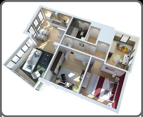 Grundriss wohnung 2 zimmer 3d  3d grundriss PQ6nIKf1q | Bungalow | Pinterest | Grundrisse ...