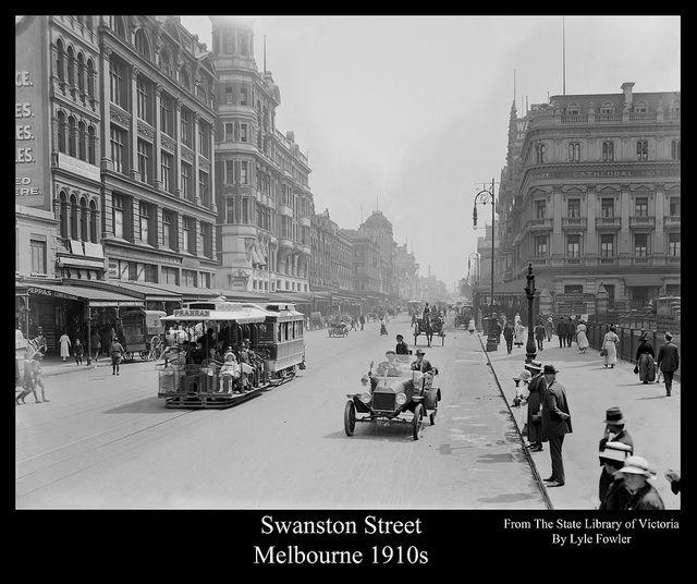 Swanston Street Melbourne 1910s In 2020 Melbourne Victoria