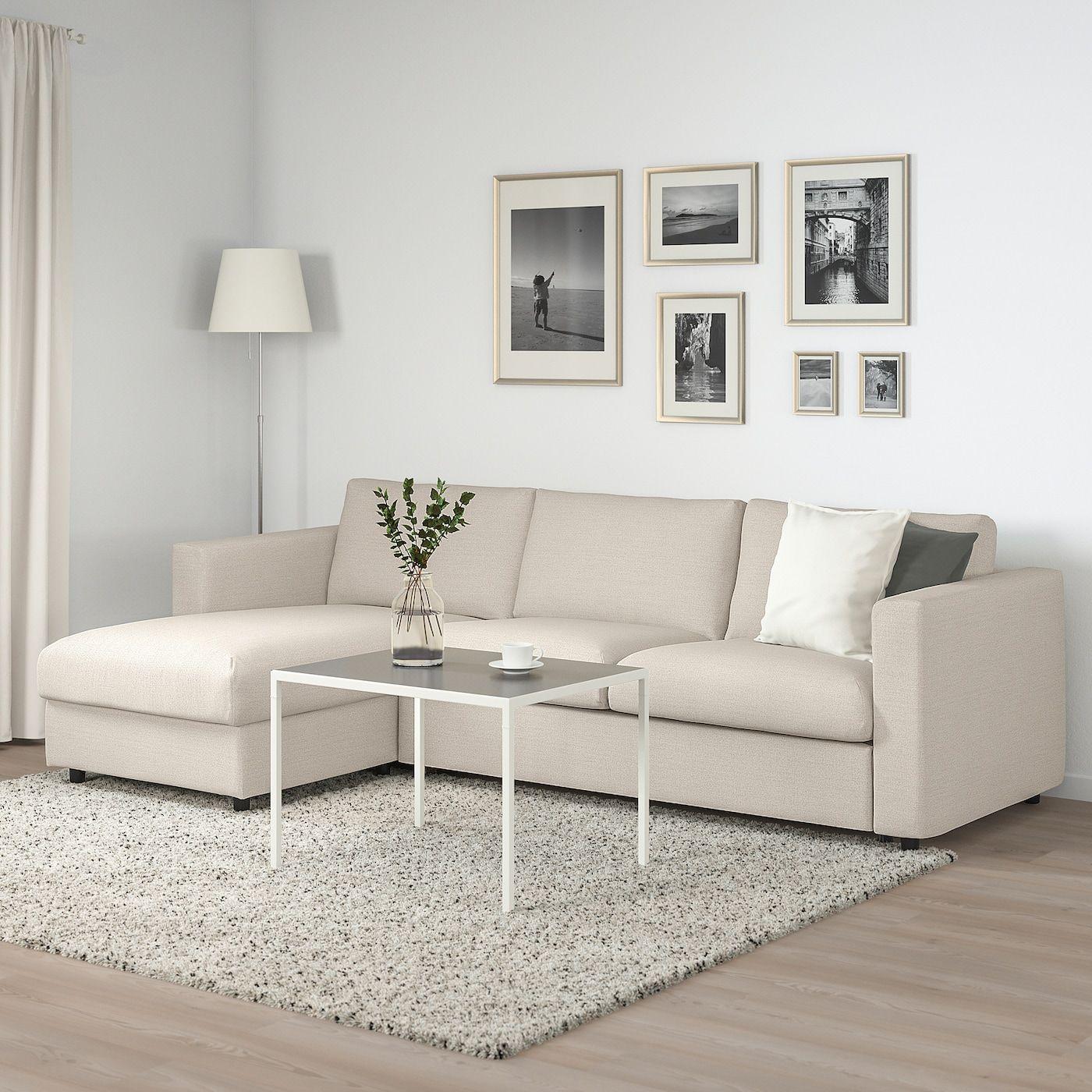 Vimle 3er Bettsofa Mit Recamiere Gunnared Beige Ikea Osterreich Ikea Bed Sofa Bed Sofa