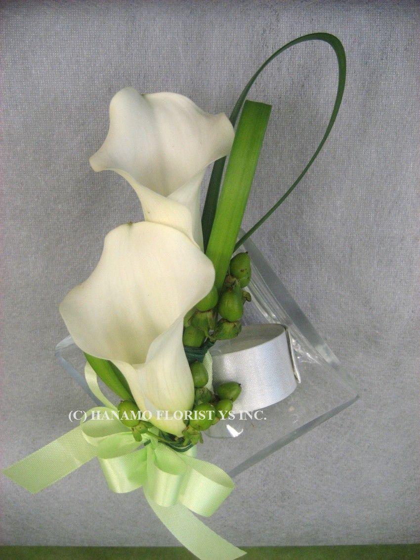 Calla Lily Corsage Ideas Cors000 Wrist Corsage Mini Cymbidium Spray Rose Feather Calla Lillies Calla Lily Flowers Calla Lily