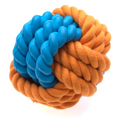 Rubber Rope Ball RSPCA World for Pets Online pet