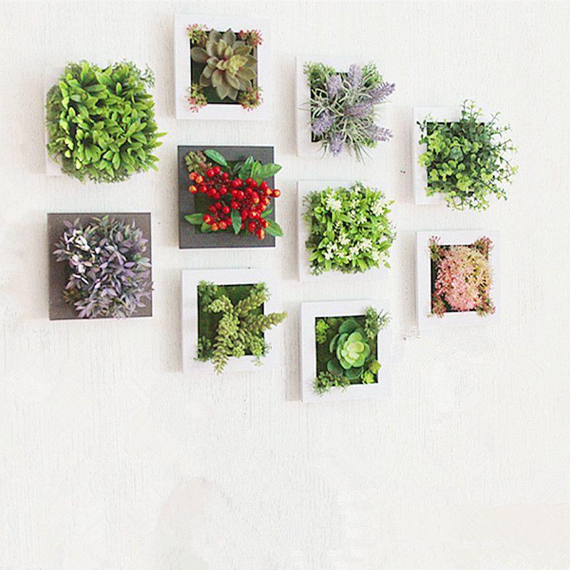 3d Creative Metope Succulent Plants Imitation Wood Photo Frame