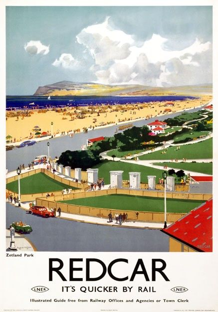 Northumberland 2 Railway Old Advert Poster Beauty Family Holiday View Photo