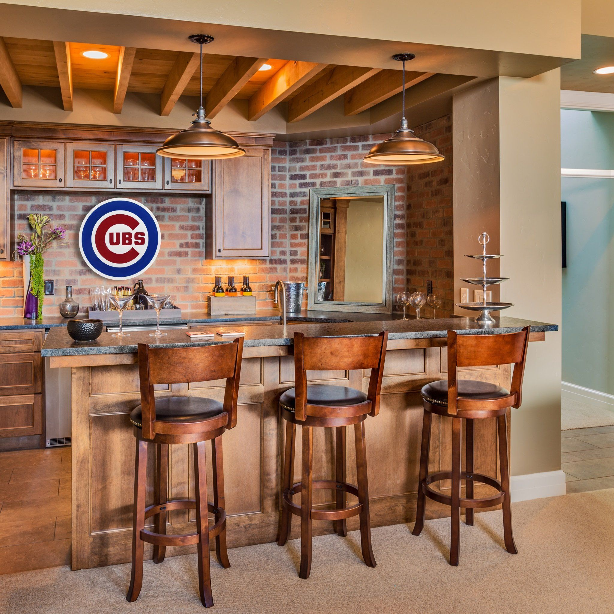 Chicago Cubs Decor | Bar | Pinterest