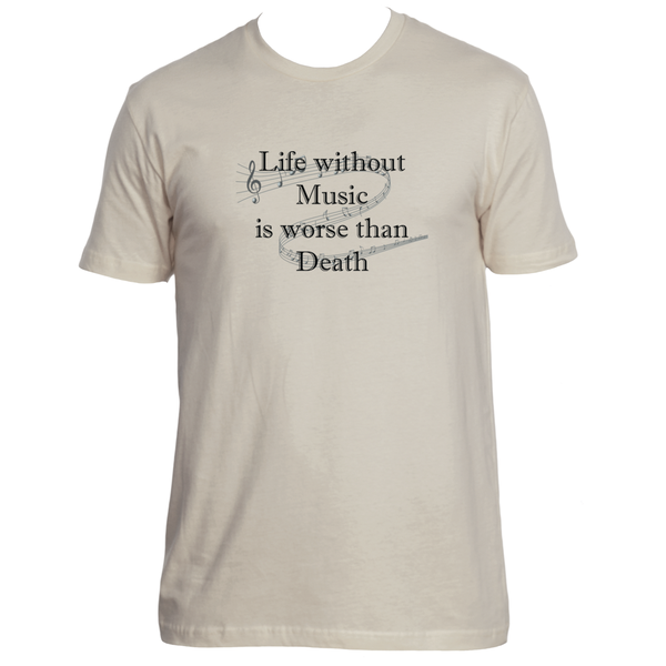 LIFE WITHOUT MUSIC UNISEX T-SHIRT-SHOP NOW| Liberated Denim