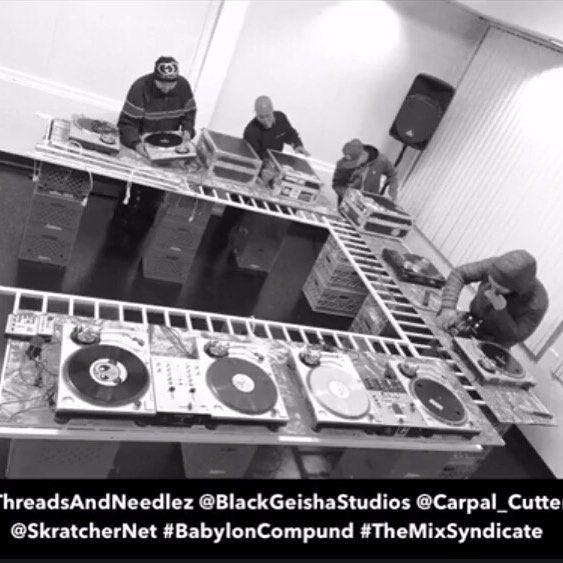 Late night assembly... #skratcher #skratchernet #turntablism #realhiphop #turntablist #threadsandneedlez  #blackgeishastudios #battleave #goldenfame #carpalcutters #twelves #technics #rane #vestaxhandytrax #numarkpt01 #tablebeatsapp #tablistnet #scratchloopers #globallyunited #unitedwestand by carpal_cutters http://ift.tt/1HNGVsC