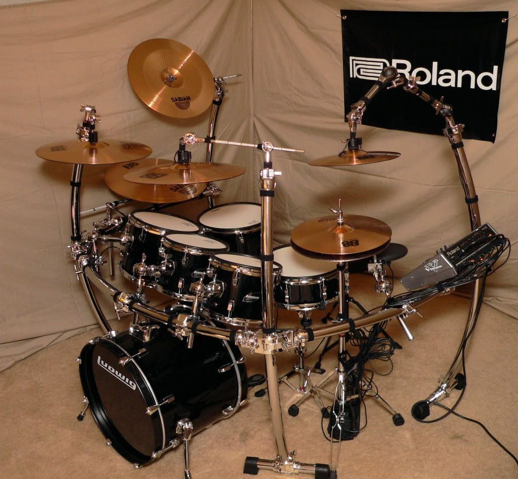 custom roland electronic drums kit v drum td 20sx acoustic conversion set td 20 roland. Black Bedroom Furniture Sets. Home Design Ideas
