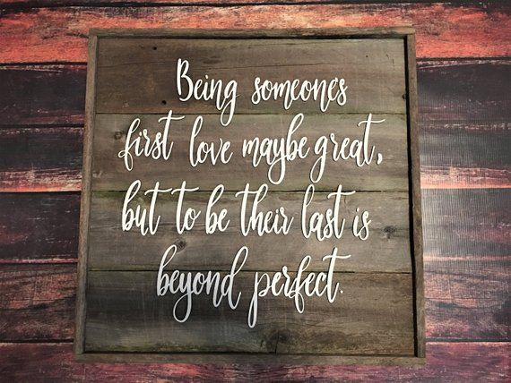 Barn Wood Sign with Quote, Love Sign, Wall Hanging, Table ...