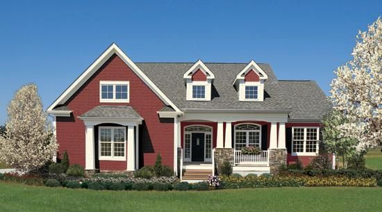 Default Image Of The Summerhill House Plan Number 1090 Red House House Design House Plans