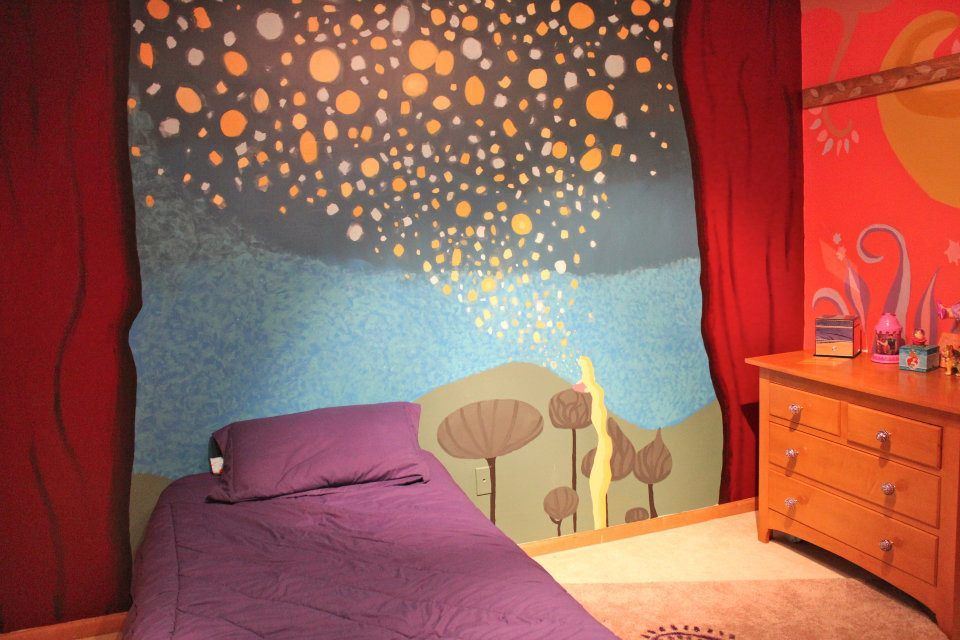 Tangled Inspired Room I Painted For My Younger Sister All