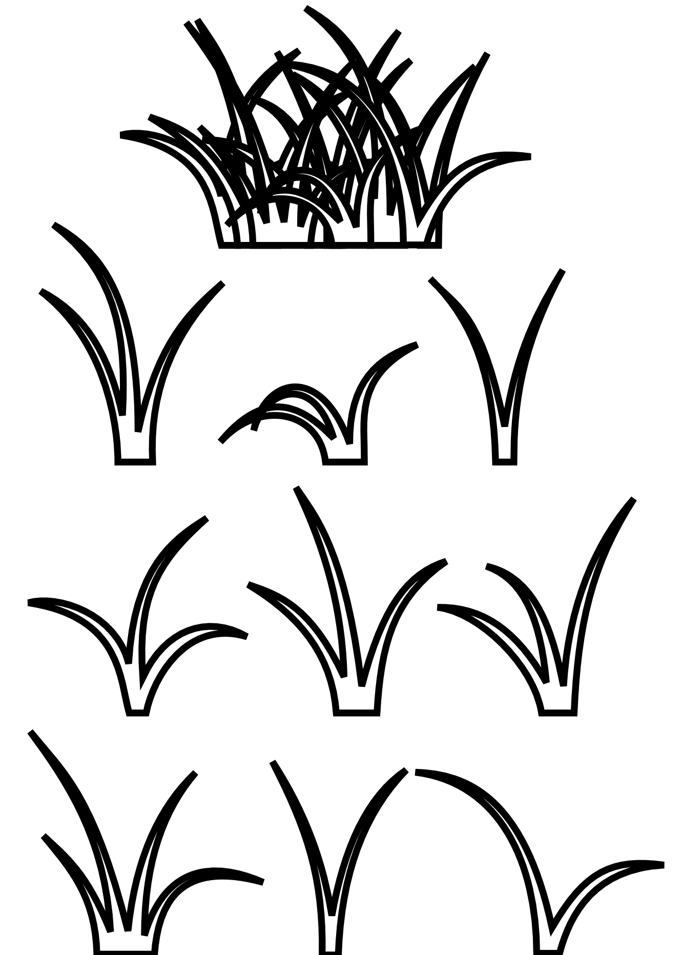 Grass Black White Line Art Scalable Vector Graphics Svg