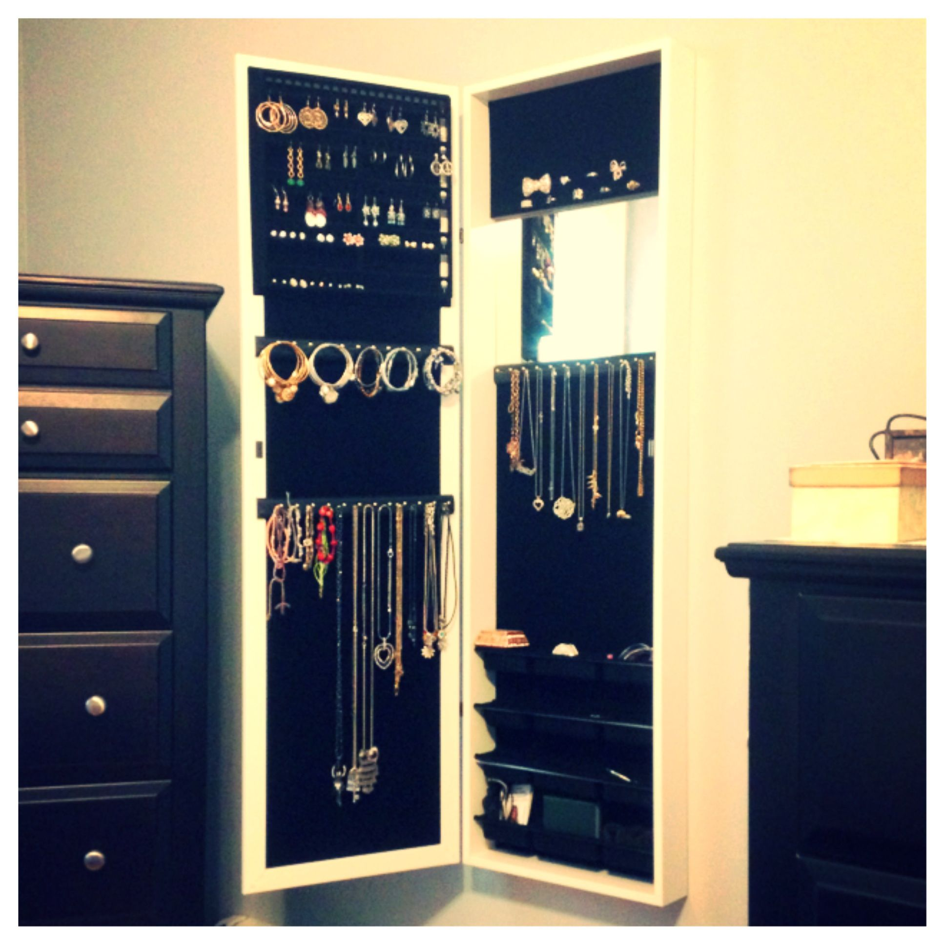 A mirror armoire... Every girl needs this | Mirrored ...