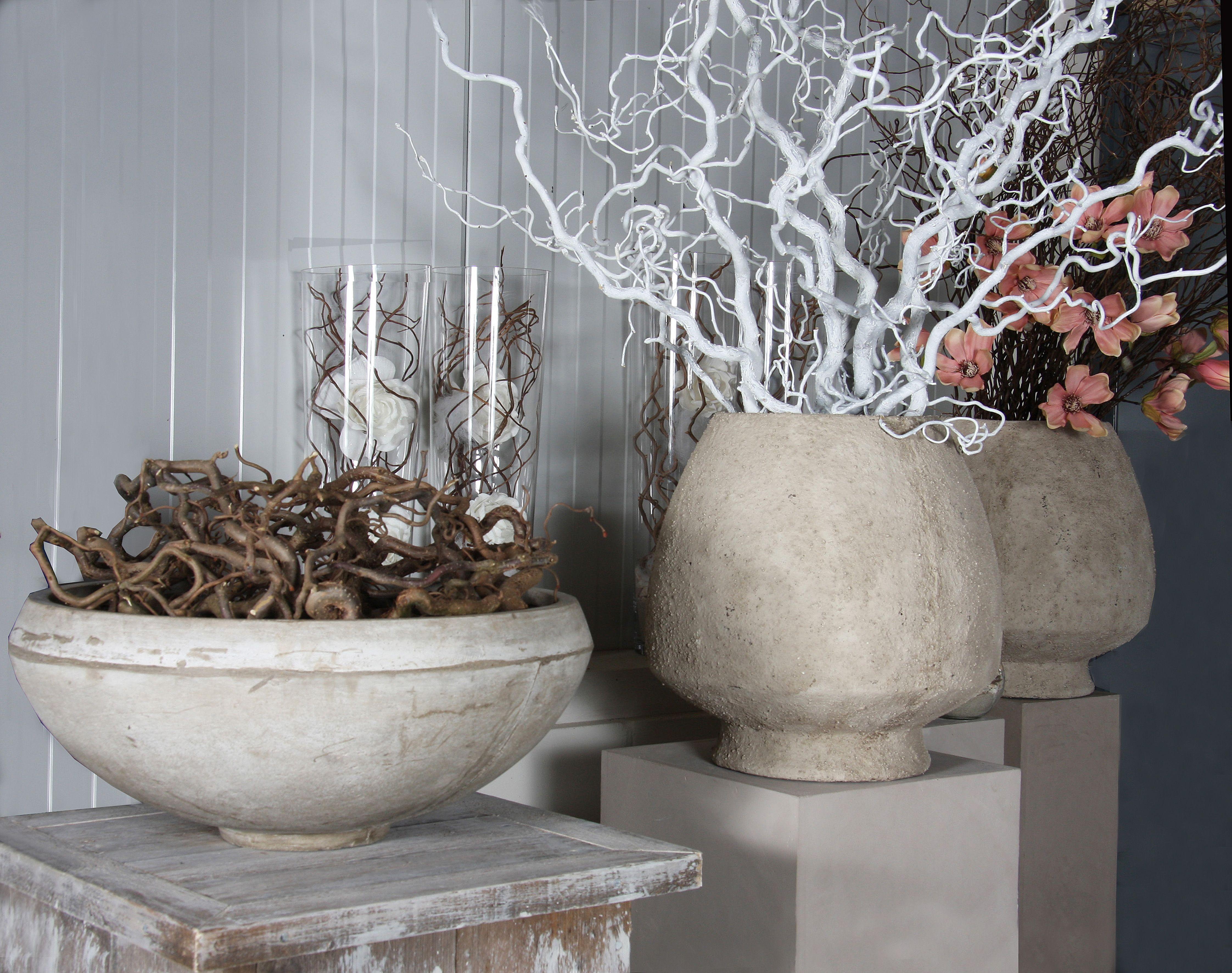Allerlei Decoratie Takken Op Een Zuil In Mooie Potten Kijk Voor Meer Op Webschop Decoratietakken Www Decoratietakken Nl Dekoration