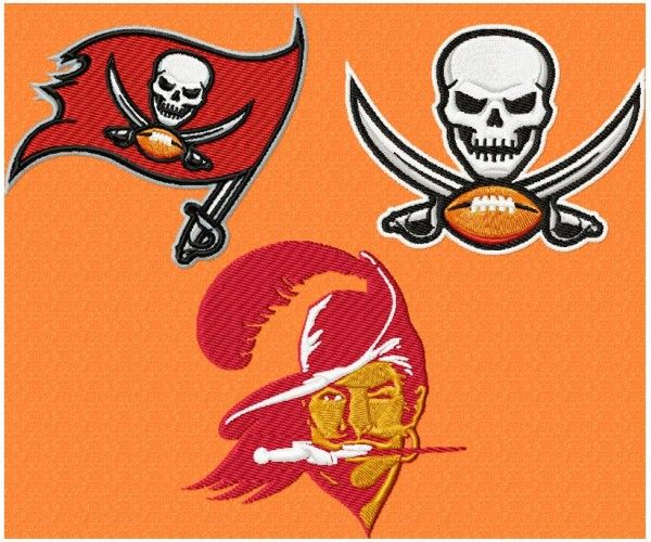 Tampa Bay Buccaneers Logo Machine Embroidery Design For Instant Download Machine Embroidery Designs Machine Embroidery Tampa Bay Buccaneers Logo