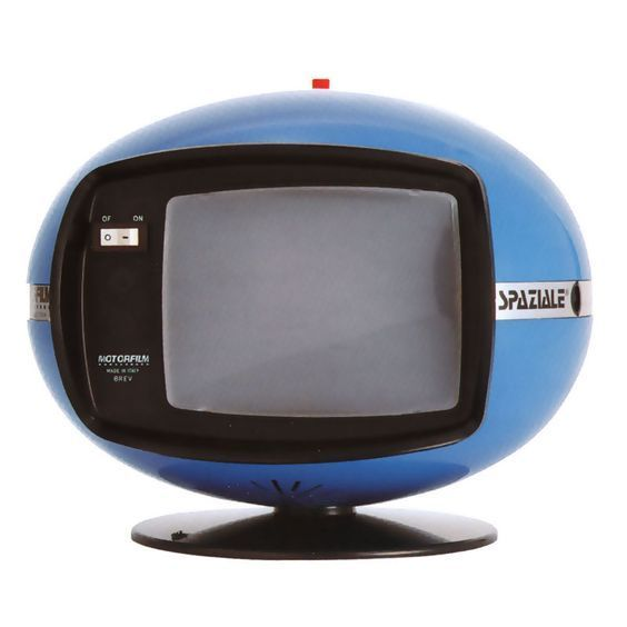 Motorfilm Spaziale Black White Tv 1970 Retro Televiseur