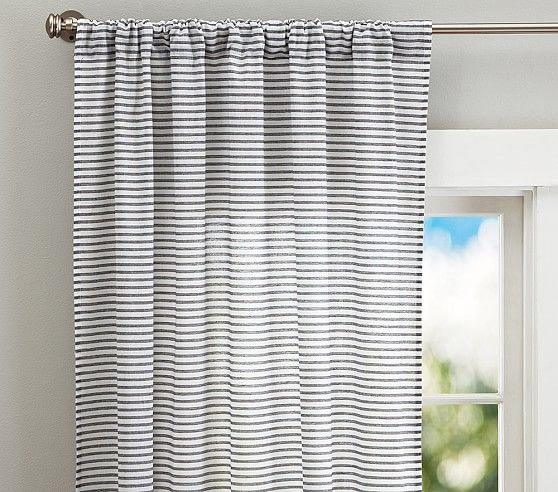 Simple Stripe Panel Blackout shades, Barn and Bedrooms