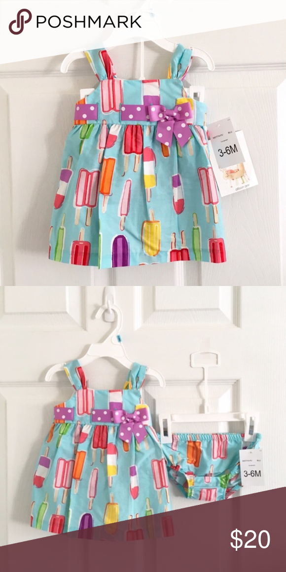 Allison Ann Popsicle Dress and Diaper Cover Set New with tags ...