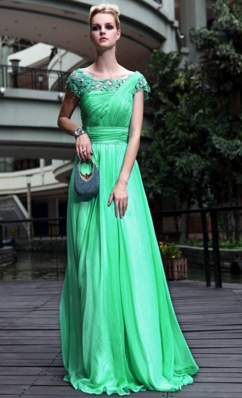 Green Modest Evening Gown DQ830551 | Gowns | Pinterest | Jumpers ...