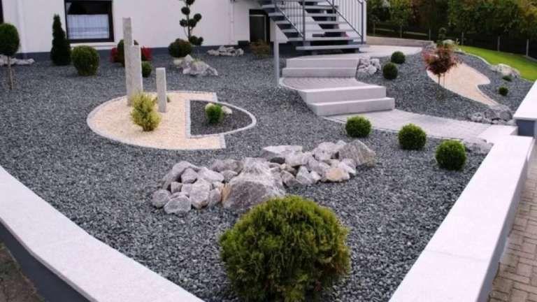 15 Vorgarten Mit Kies Und Grasern Pebble Garden Pagoda Garden Gravel Garden