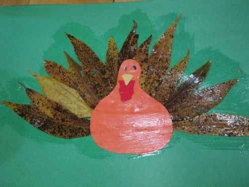 turkey with leaves