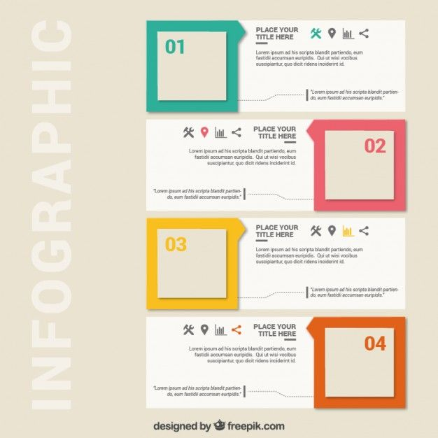 square infographics free vector graphics pinterest infographic