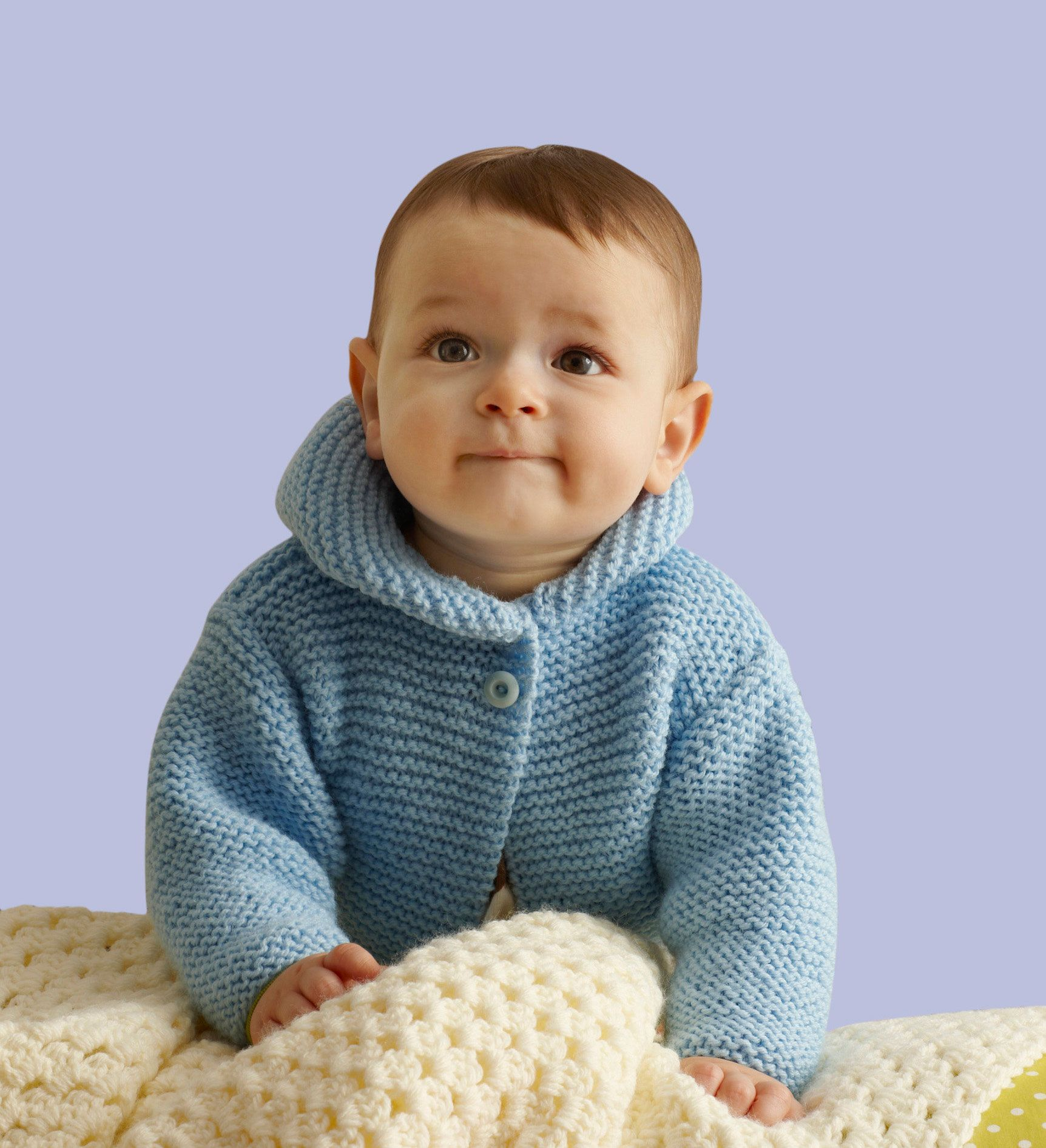Free Knitting Pattern 90427AD Storybook Baby Hoodie : Lion Brand ...