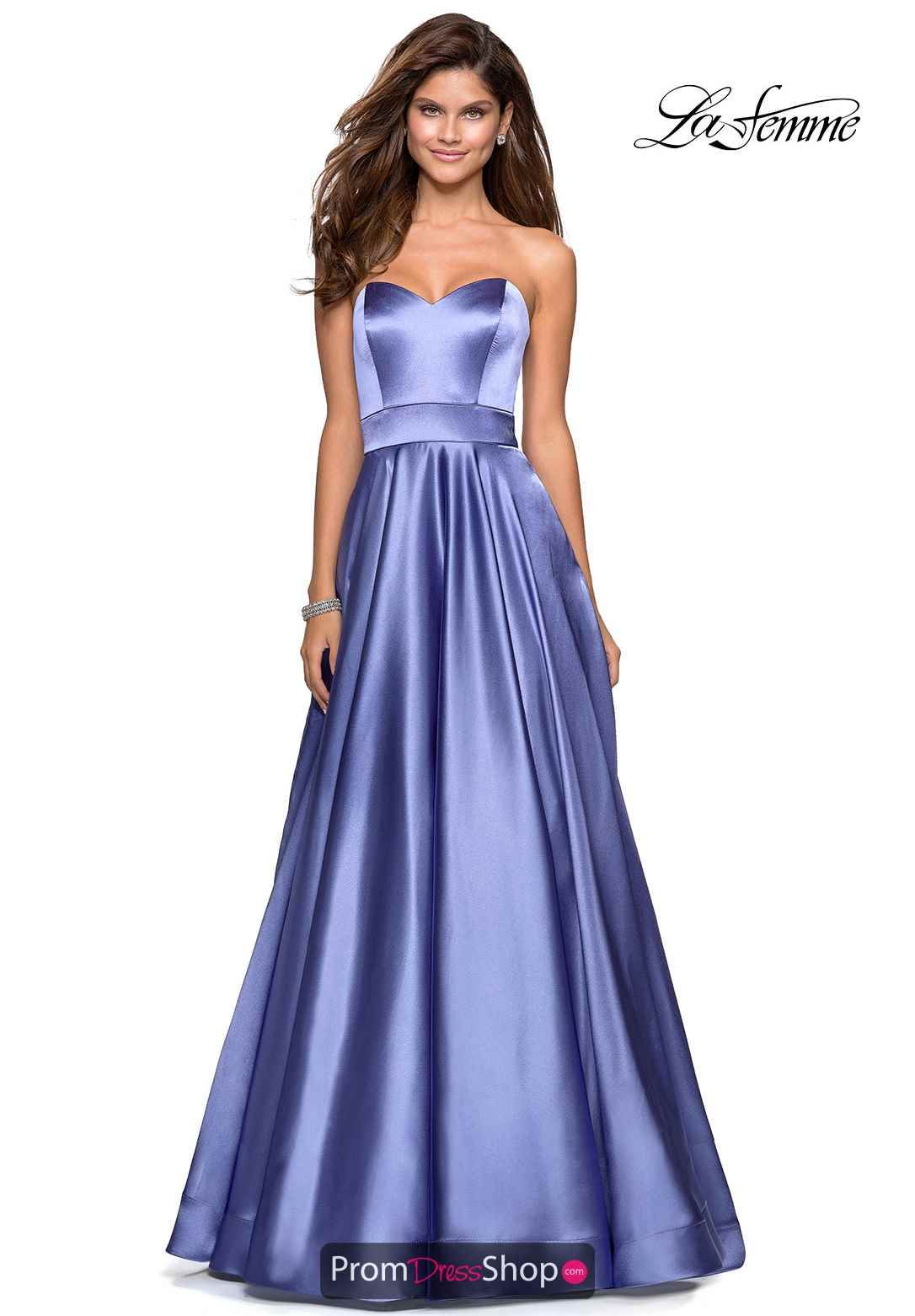 Dark Periwinkle Prom Dress