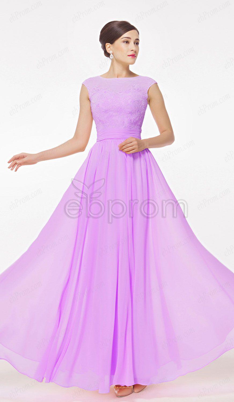 Orchid bridesmaid dresses Modest evening dresses