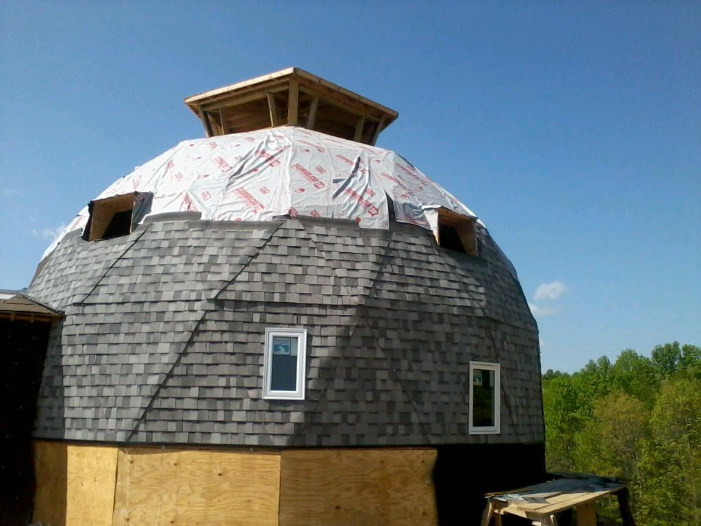 Roofing Geodesic Domes Amp Earthbag Geodesic Dome Click To