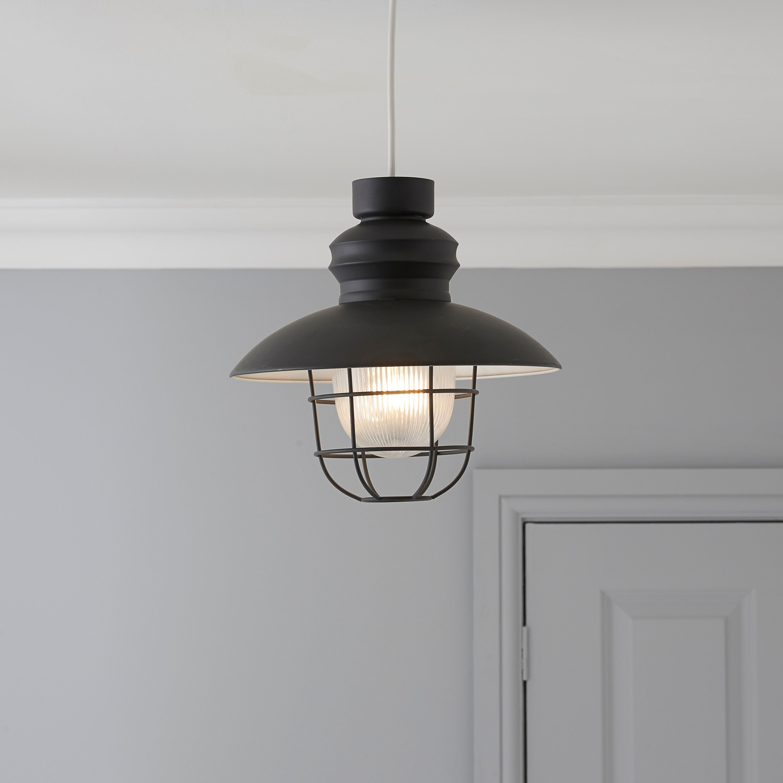 Bedroom Lights B Q: Colours Paynton Grey Fisherman's Light Shade (D)28cm