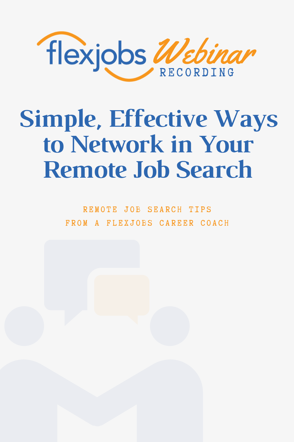 Webinar Recording Network During Your Remote Job Search