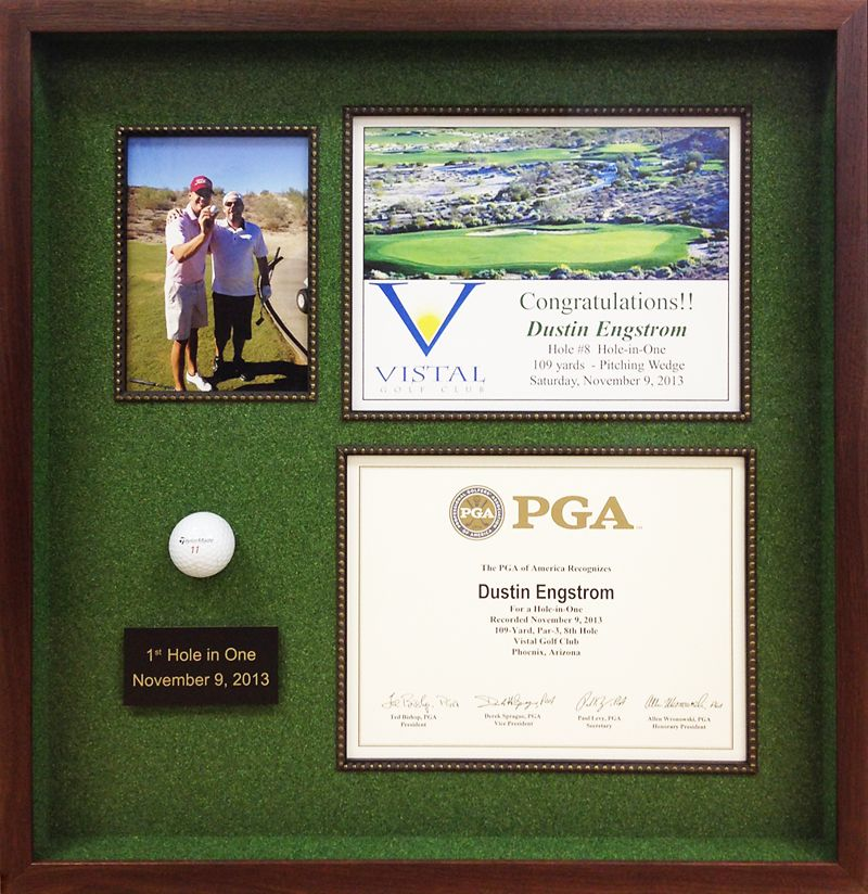 Hole In One Shadowbox Sports Shadow Box Hole In One Golf