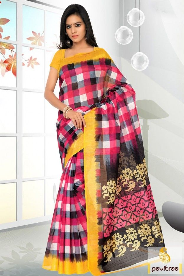 Summer season special multi bhagalpuri silk saree is very light ...