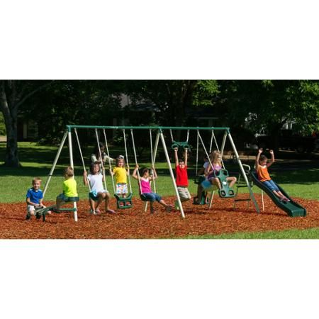 Toys Metal Swing Sets Swing Set Backyard Swing Sets