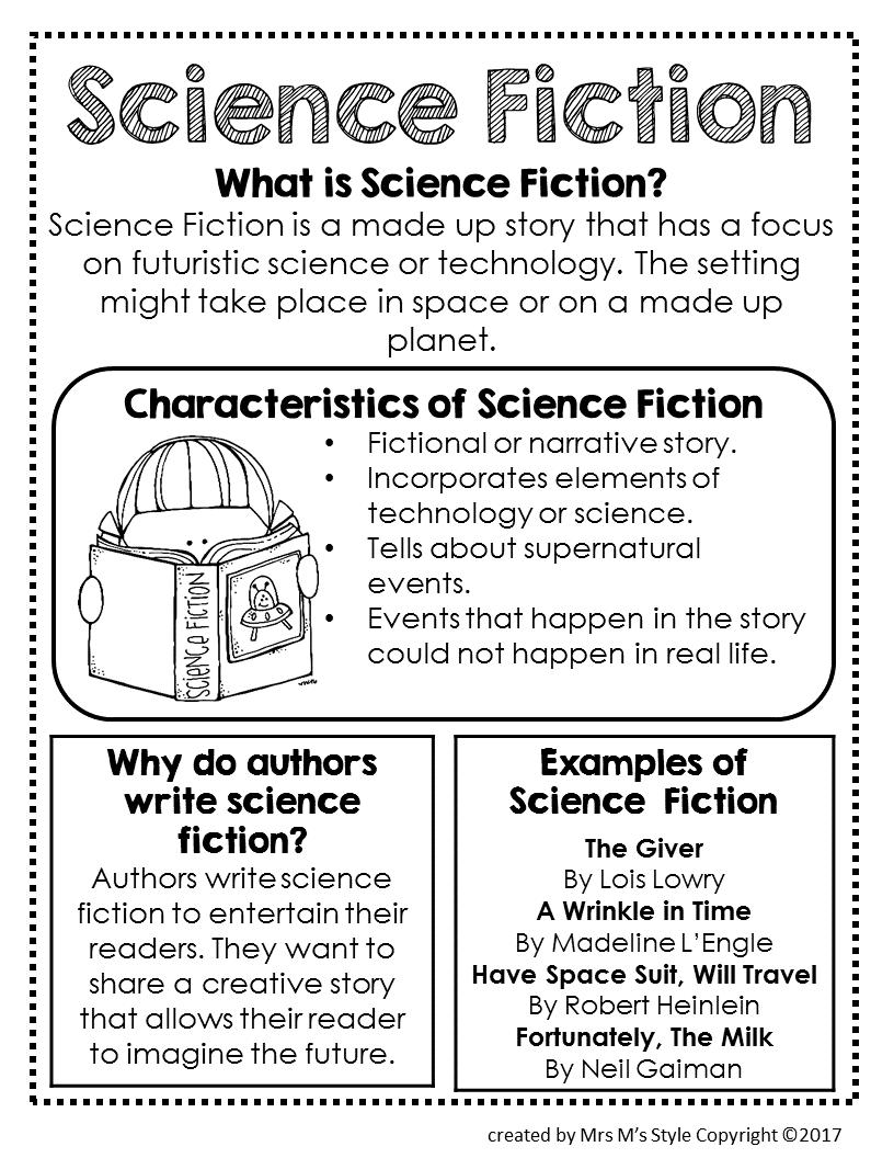 Science fiction genre anchor chart also cute teacher ideas rh pinterest