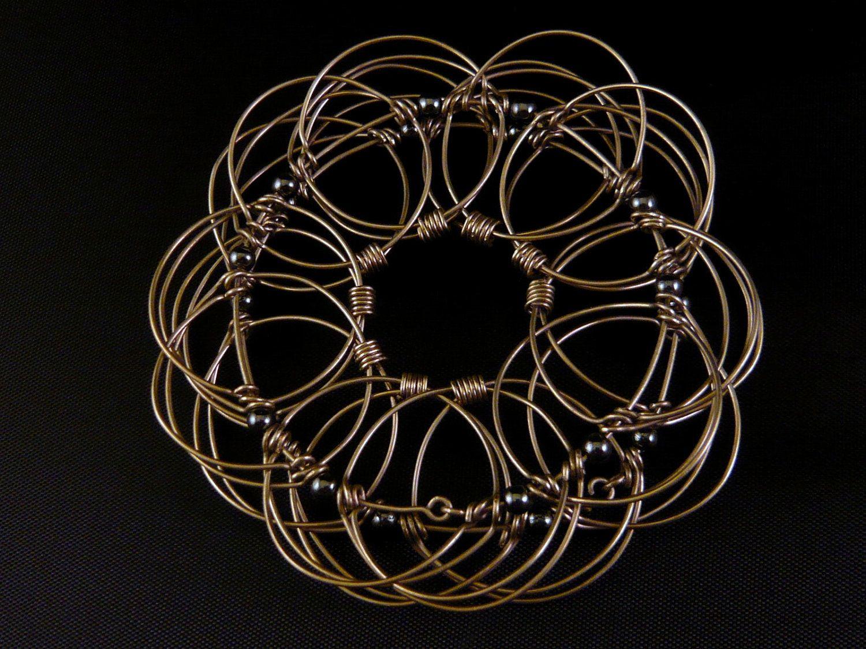 Wire Mandala - Universe Story - Hematite Beads | Jewelry