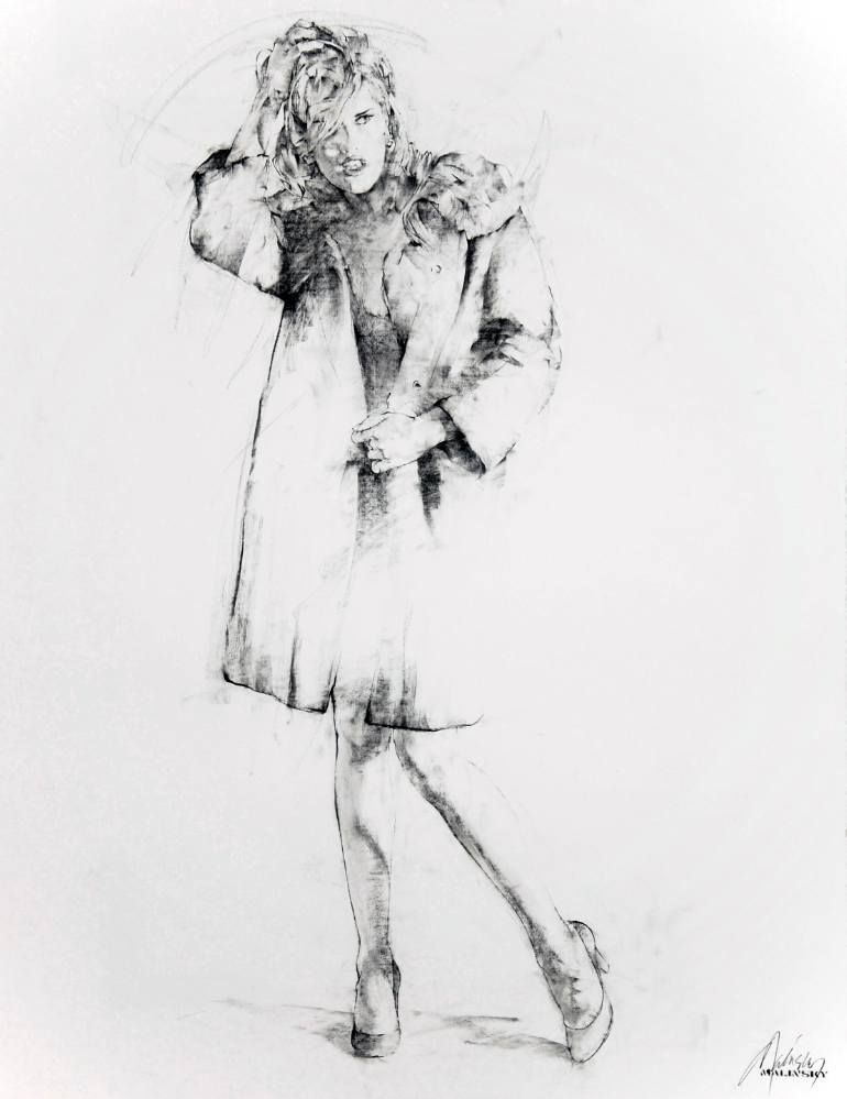 "Drawing from the series ""The Black Coat Project - The New York Sessions"""