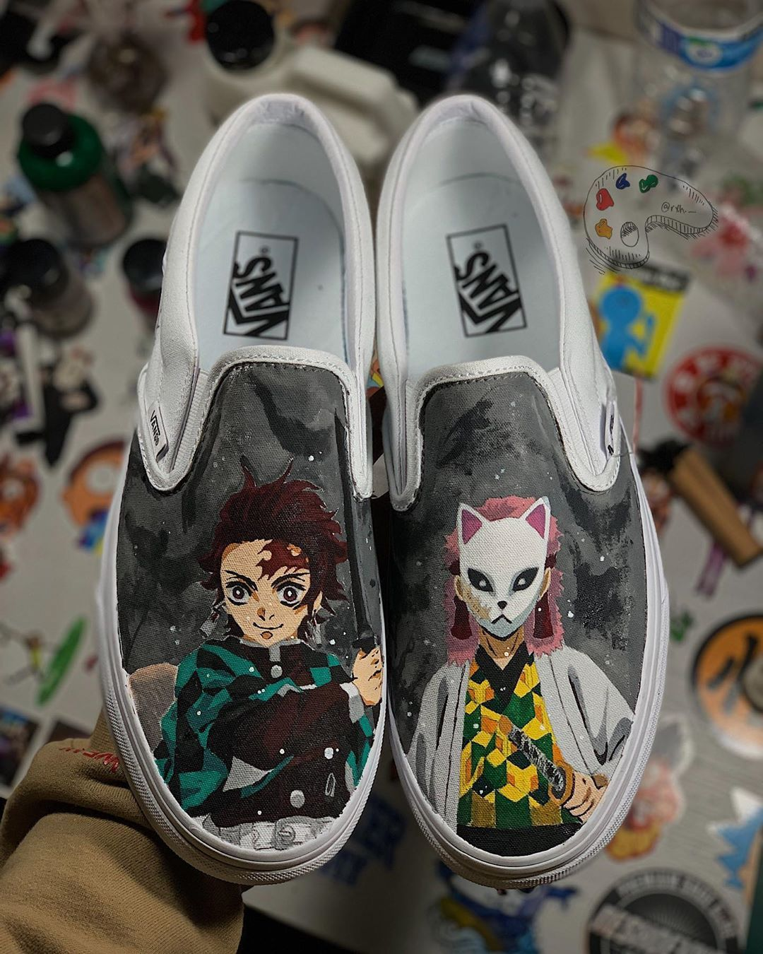Behind The Scenes By rxh._ | Anime canvas shoes, Custom shoes diy ...