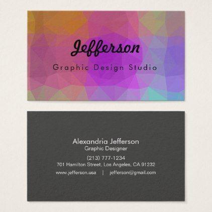 Lovegeo Abstract Geometric Design Galaxy Worlds Business Card