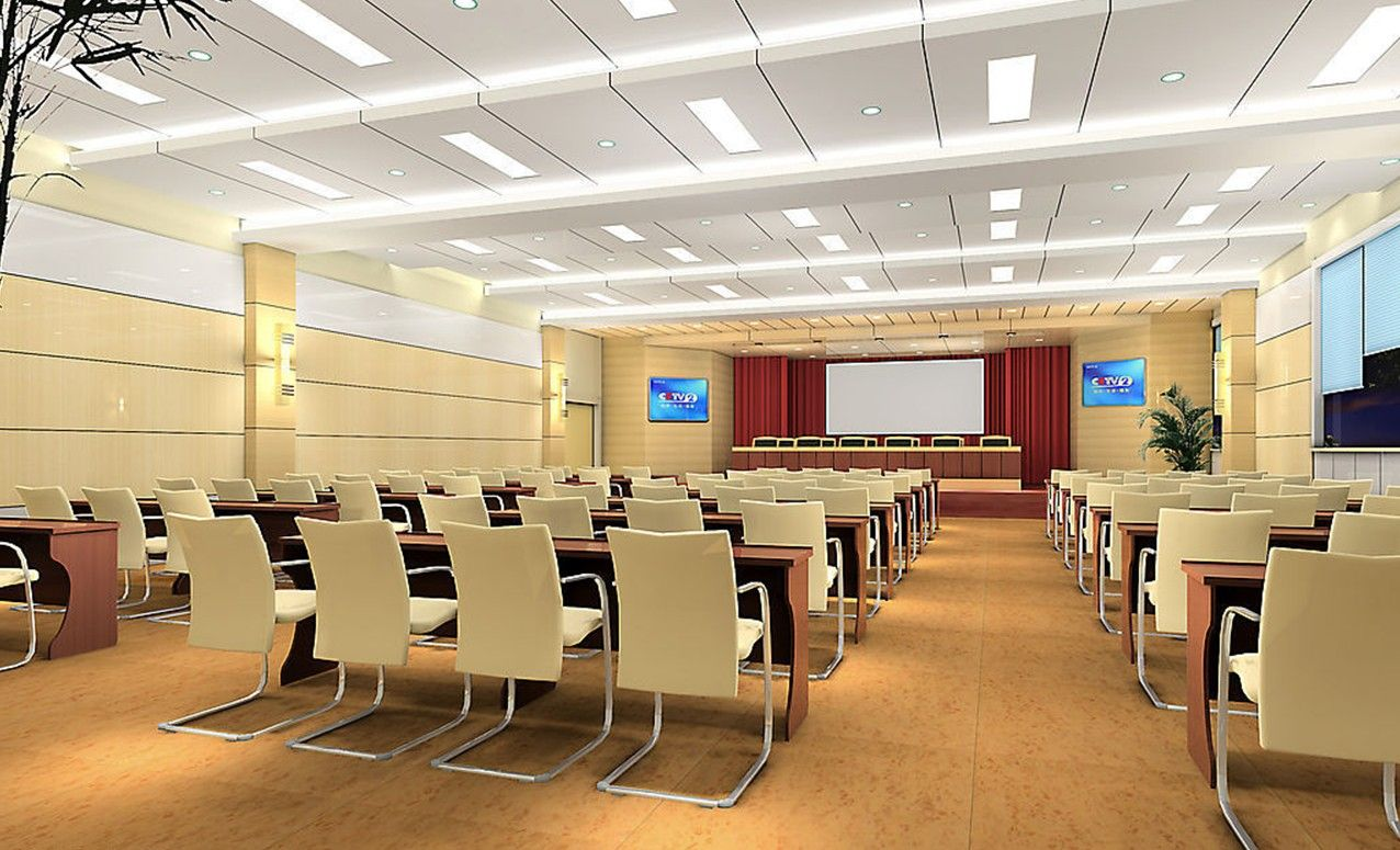 Pale Yellow Conference Room Design Rendering COC