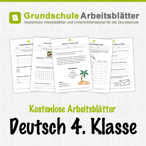 kostenlose arbeitsbl tter und unterrichtsmaterial f r den deutsch in der 4 klasse in der. Black Bedroom Furniture Sets. Home Design Ideas