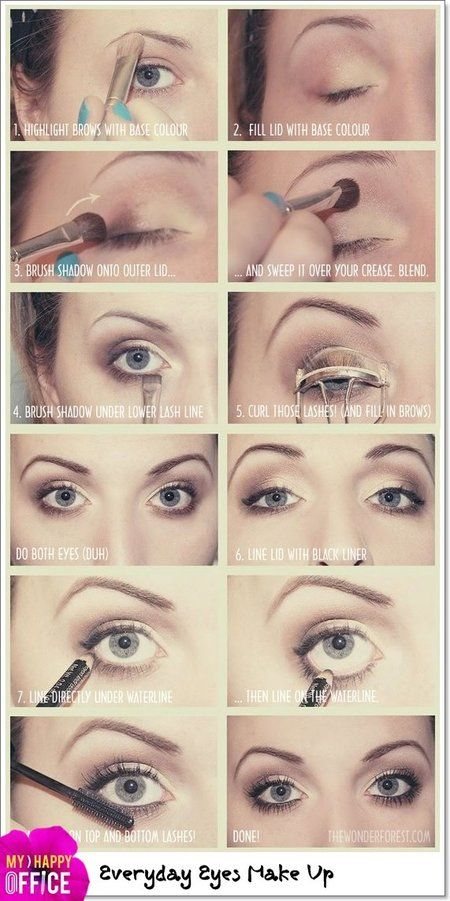 How To Make Up Beauty Eye Shadow 7 Days 7 Shades Howto Pictorial