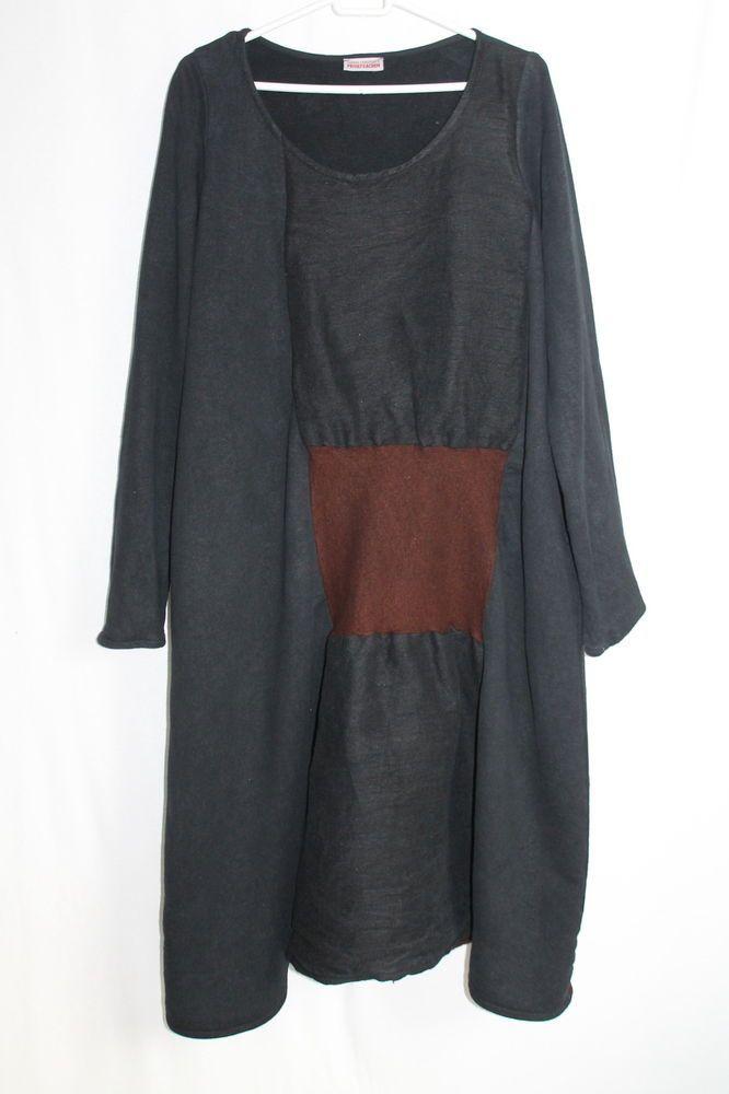 cocon.commerz PRIVATSACHEN Kleid im Patchsworkstil in schwarz Größe 2